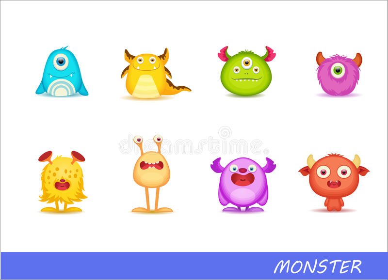 Cute monsters vector illustration