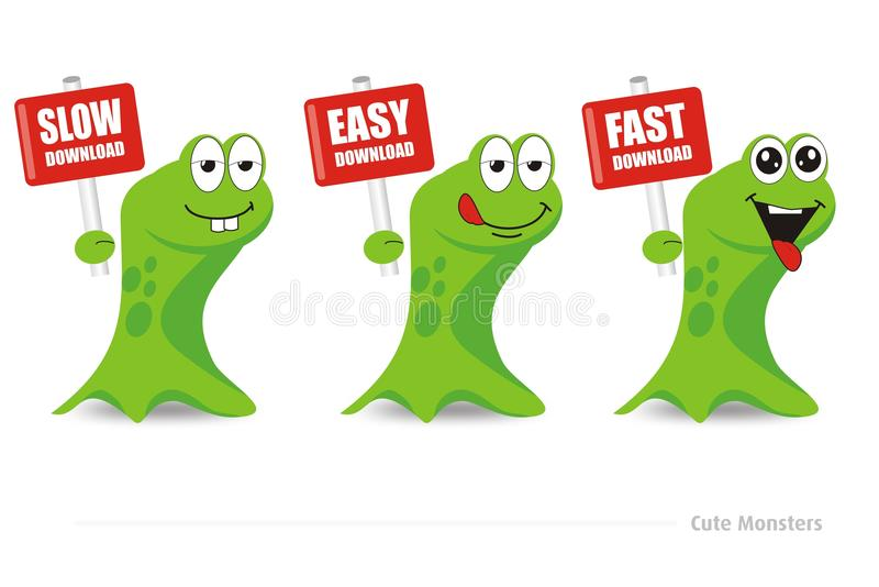Download Cute Monsters Download Series Royalty Free Stock Photos - Image: 32210768