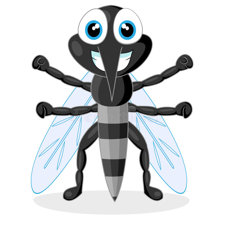 Cute mosquito stock illustration