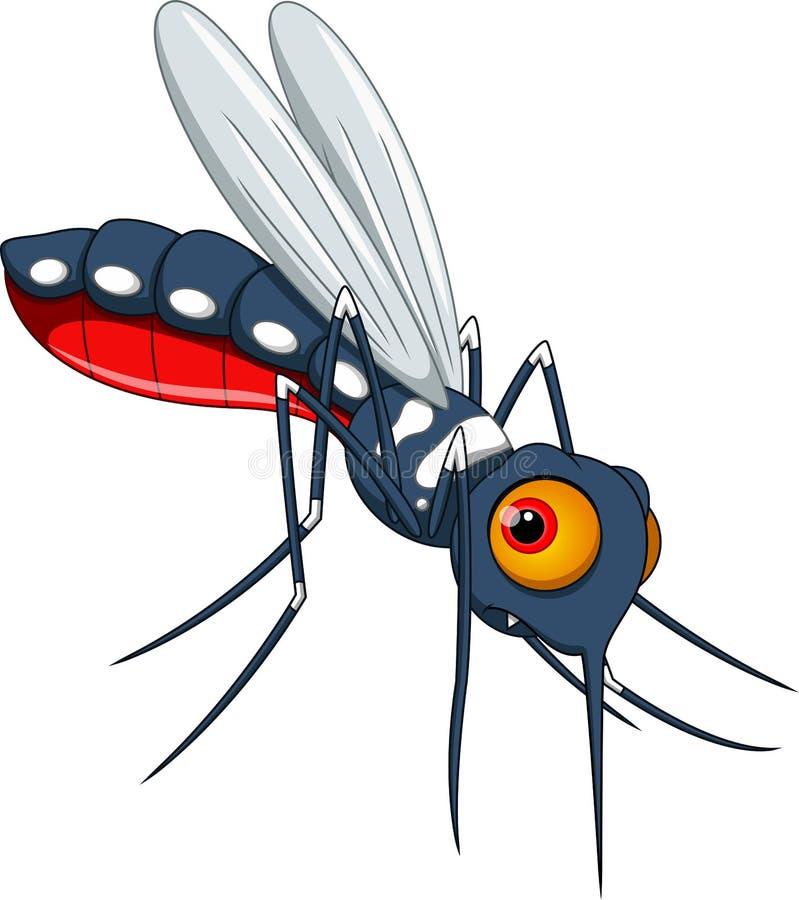 Cute mosquito cartoon stock illustration