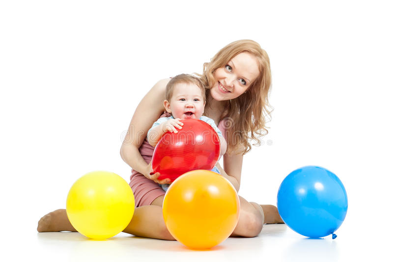 Download Cute Mother And Baby Having Fun Stock Image - Image of actions, colourful: 26939235