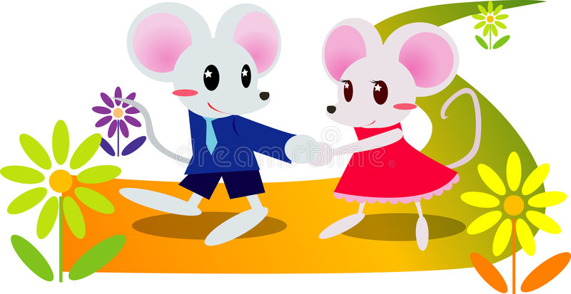 Cute mouse stock illustration