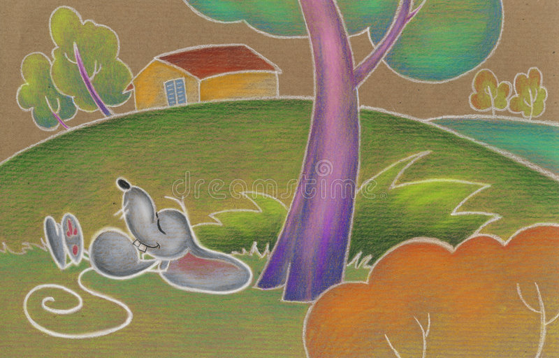Download Cute mouse asleep stock illustration. Image of country - 5245731
