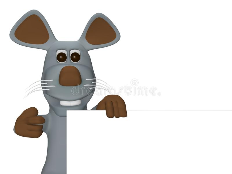 Download Cute Mouse With Card For Text Stock Images - Image: 13361404