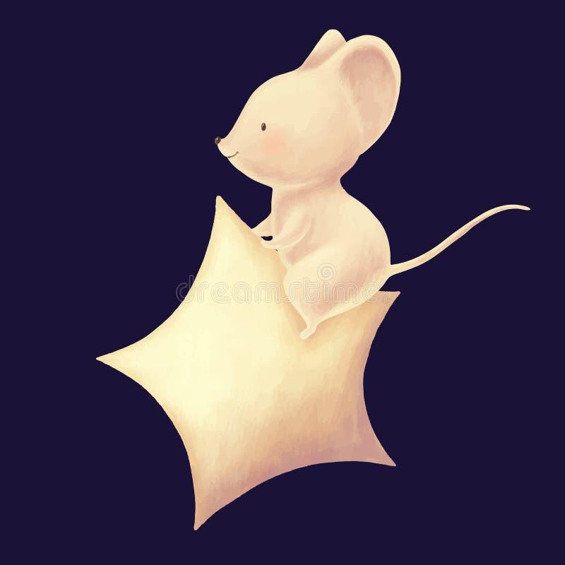 Cute mouse cartoon royalty free illustration