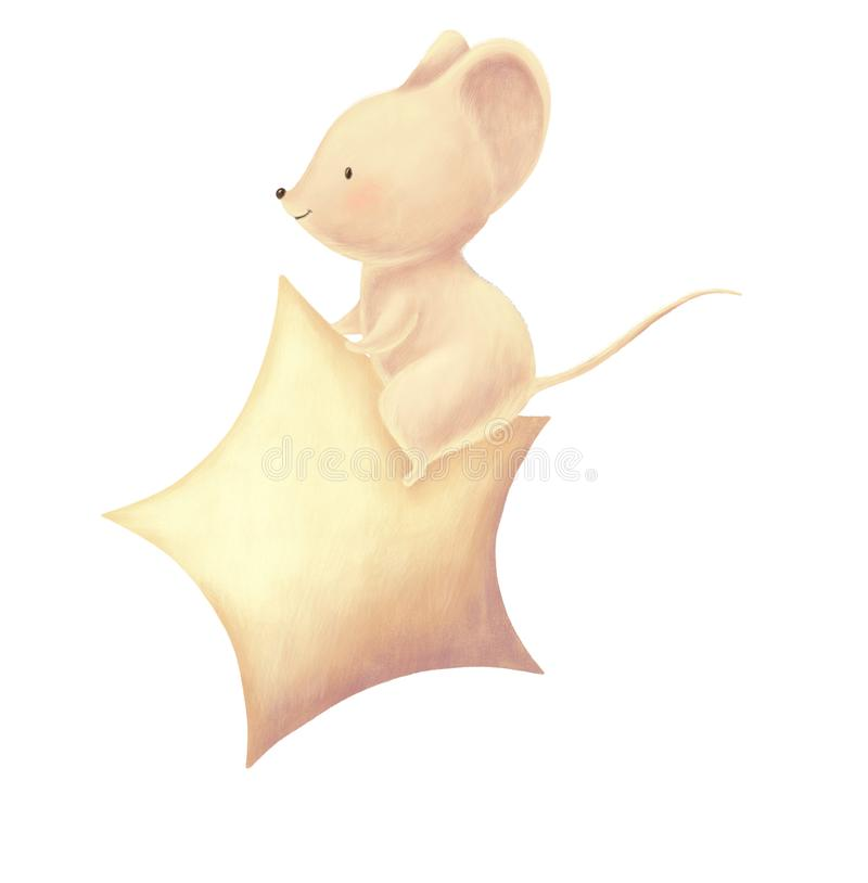 Cute mouse cartoon vector illustration