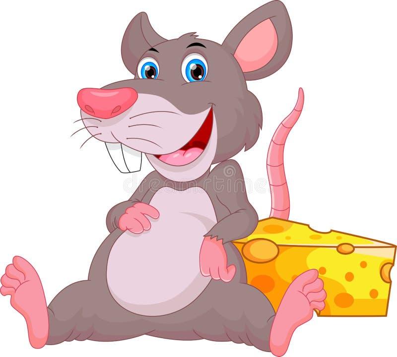 Cute mouse cartoon. Vector illustration of cute mouse cartoon