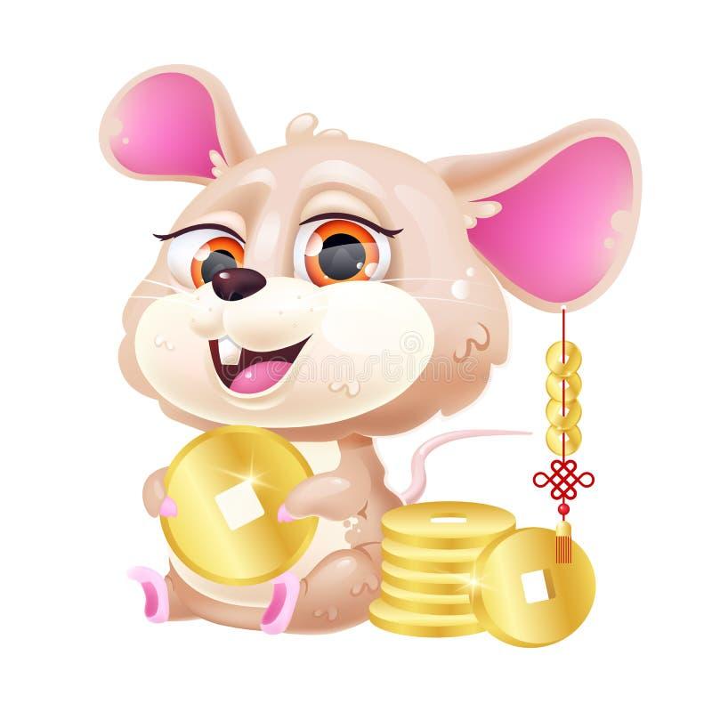 Cute Mouse Kawaii Cartoon Vector Character Stock Vector ...