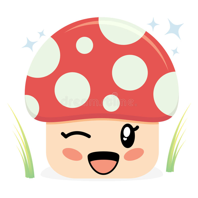 Download Cute Mushroom Character stock vector. Illustration of isolated - 20464864