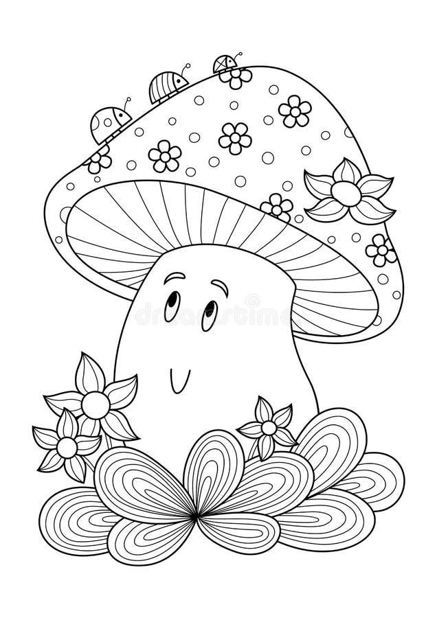 Mushroom Coloring Page Stock Illustrations – 1,247 Mushroom Coloring Page  Stock Illustrations, Vectors & Clipart - Dreamstime