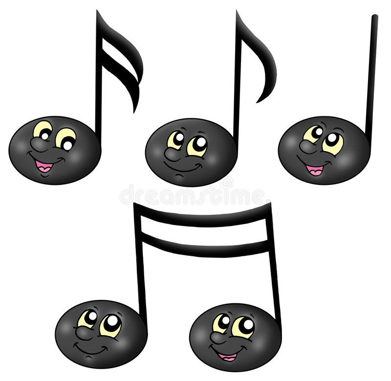 Cute music notes royalty free illustration