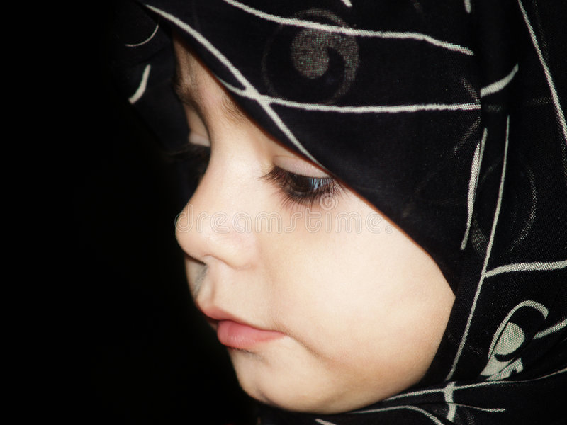 Cute Muslim Girl Stock Photo