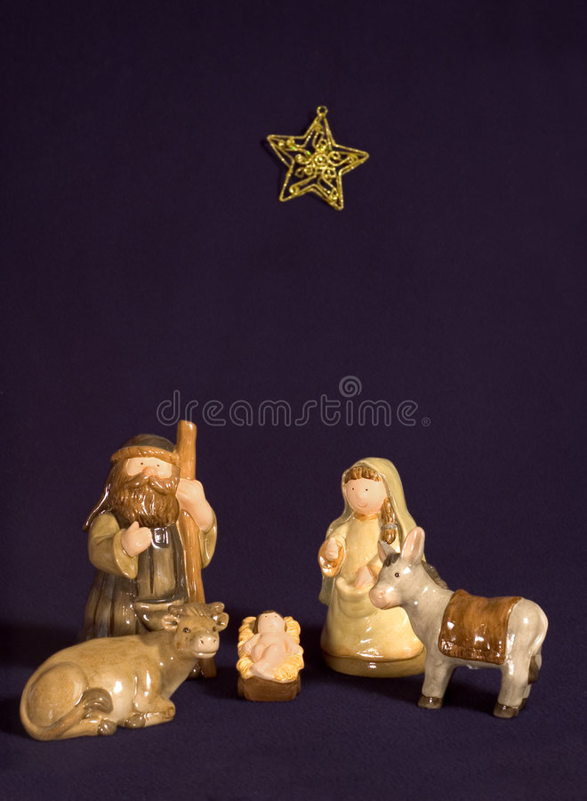 Cute Nativity Scene royalty free stock image