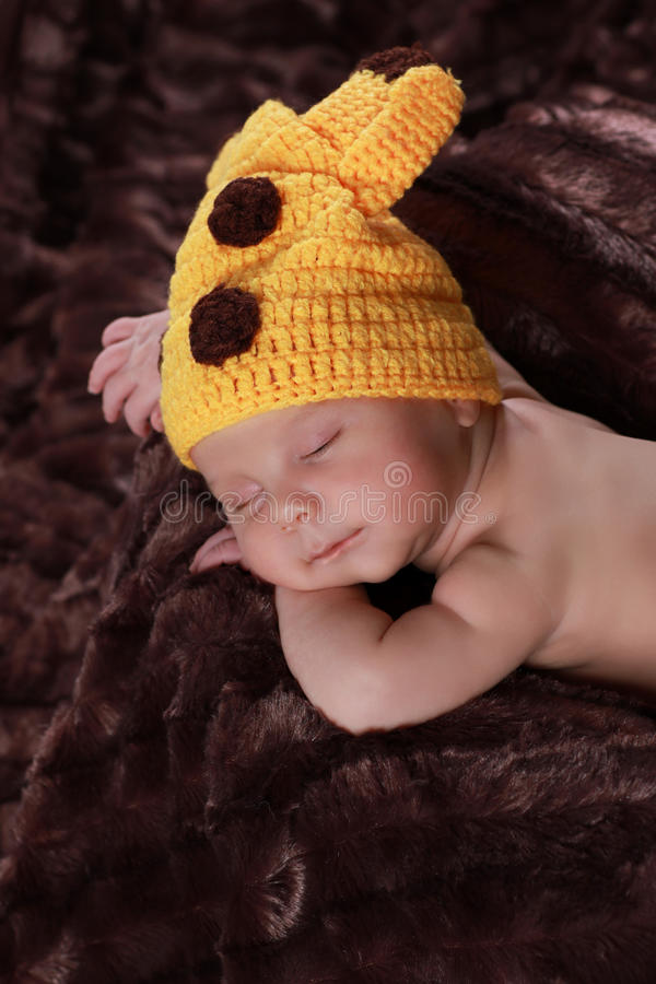 Cute new born boy. 1 month stock photo