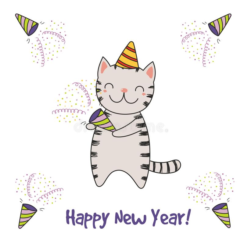 Cute new year card banner stock vector illustration of character download cute new year card banner stock vector illustration of character 106019404 m4hsunfo