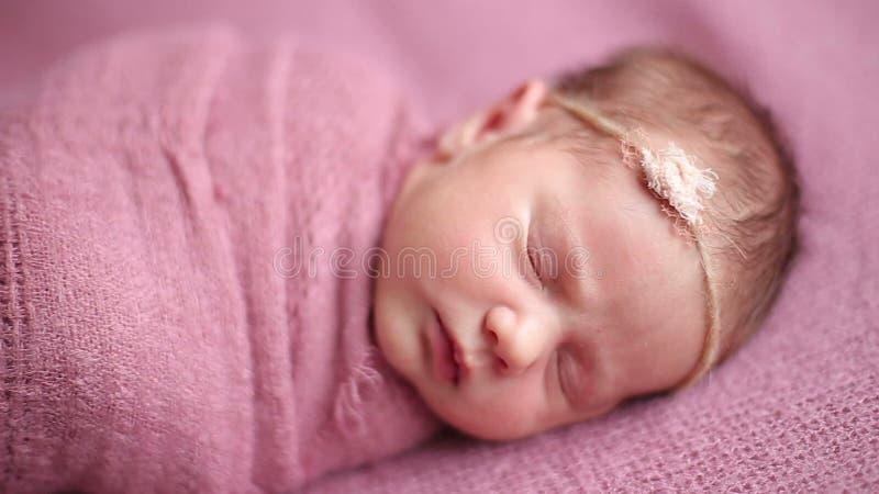 Cute Newborn Baby Girl Sleeping Stock Video Video Of Beautiful Innocent 61195673