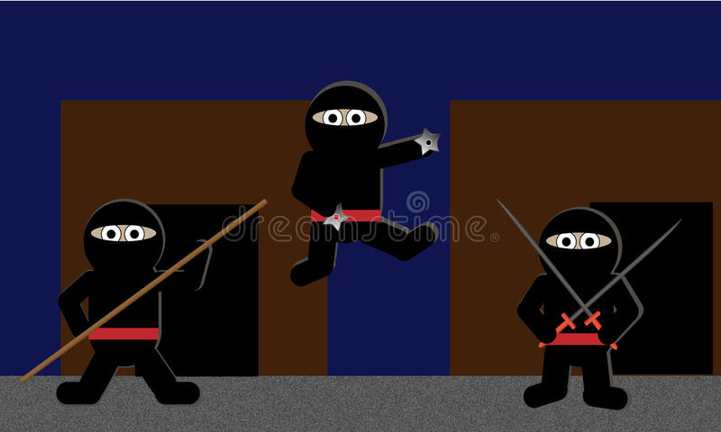 Cute Ninjas Royalty Free Stock Images