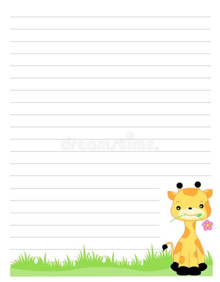 Cute note paper background stock illustration