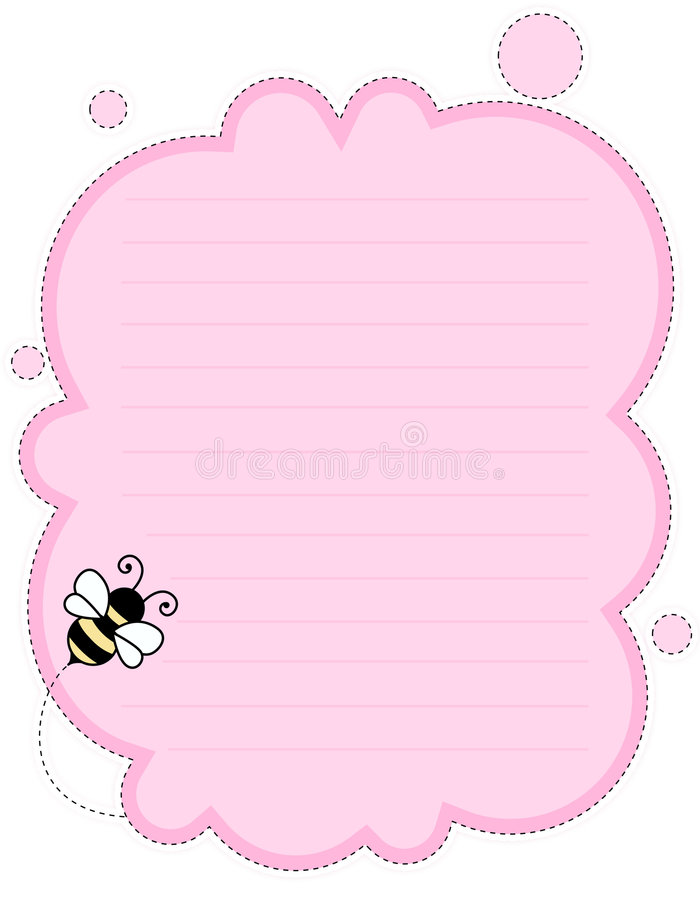 Cute note paper background royalty free illustration