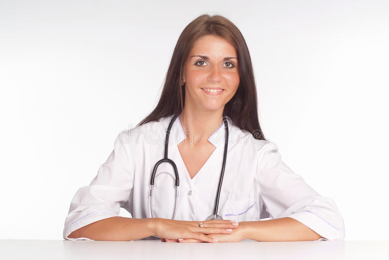 Download Cute Nurse Sitting Stock Image - Image: 20337611