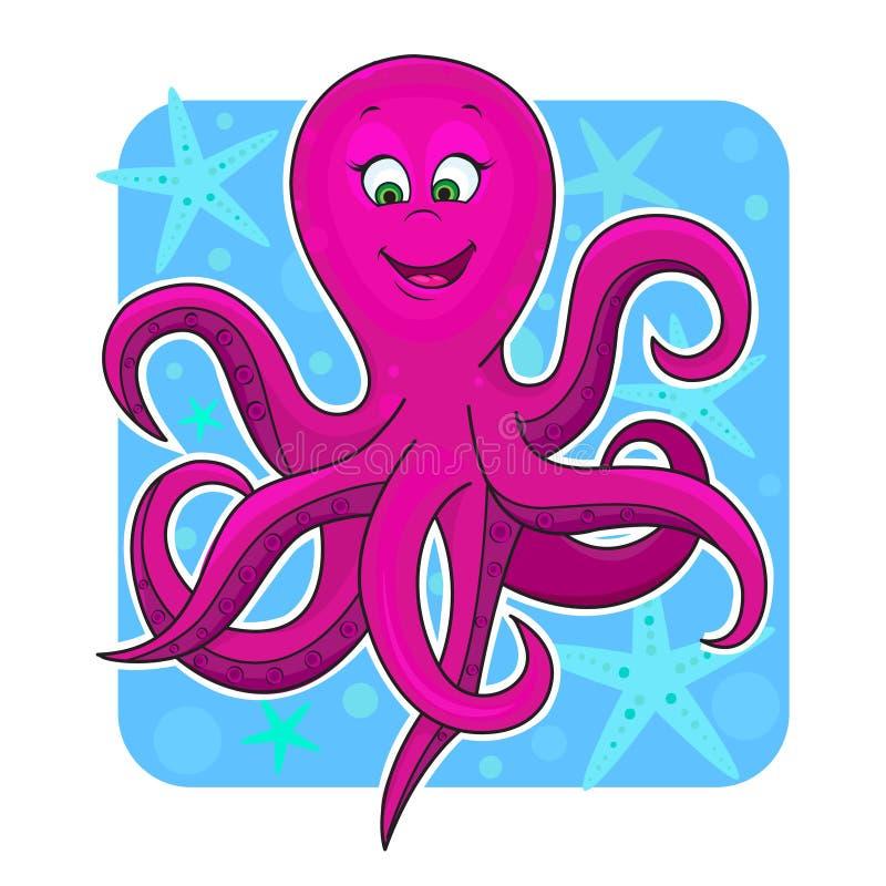 Download Cute octopus stock vector. Image of animal, aquarium - 24620325