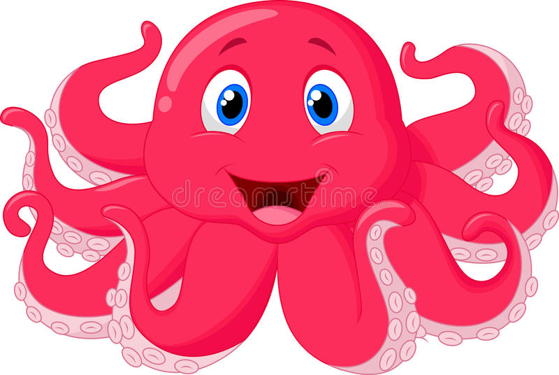 Cute octopus cartoon royalty free illustration