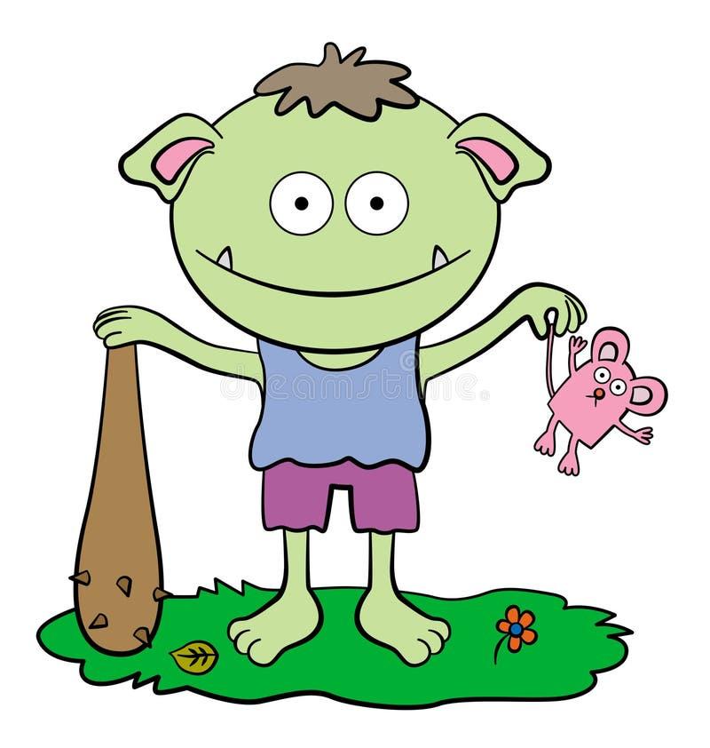 Download Cute ogre stock illustration. Image of prey, character - 26491213