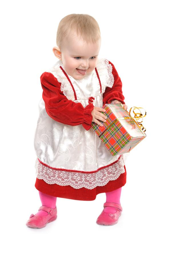 Download Cute one year old girl stock image. Image of fashion - 14030151