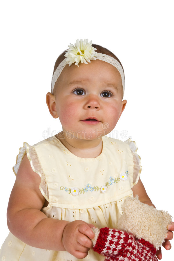 Download Cute One Year Old Isolated stock photo. Image of modeling - 7047074