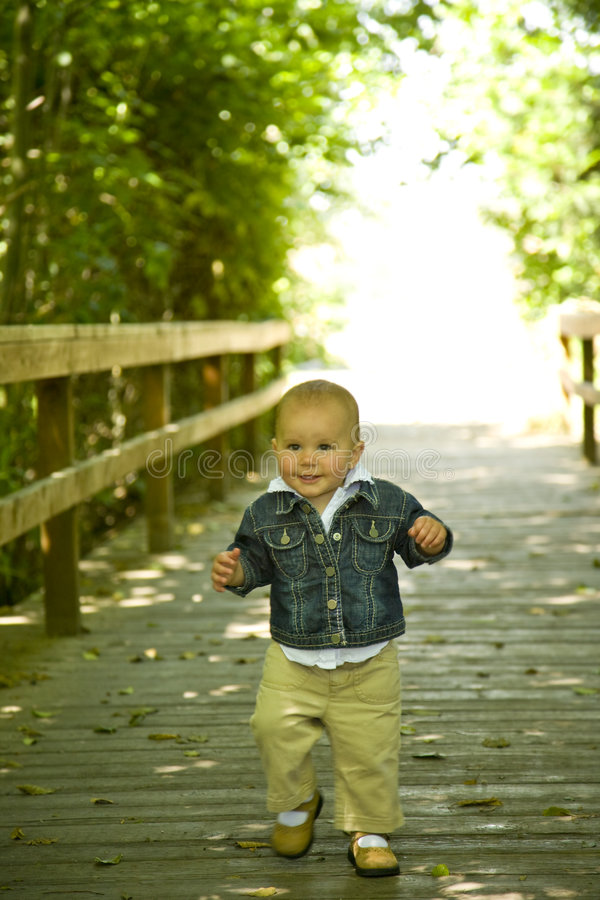 Download Cute One Year Old Outside stock image. Image of smiling - 6158583