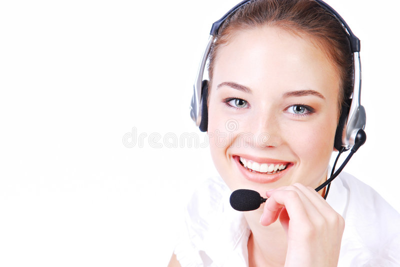 Download Cute  operator stock image. Image of friendly, hotline - 6912271