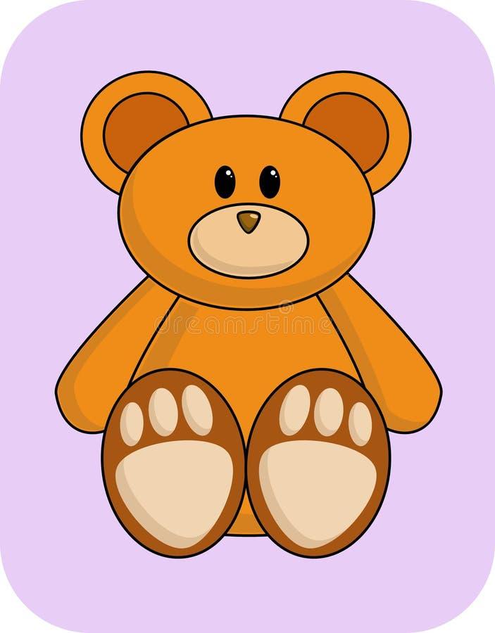 Download Cute Orange Bear stock illustration. Illustration of teddy - 450505
