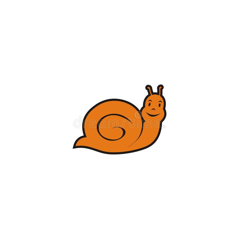 A cute orange snail royalty free stock photo