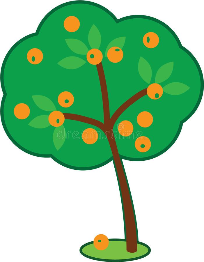 Cute Orange Tree stock images