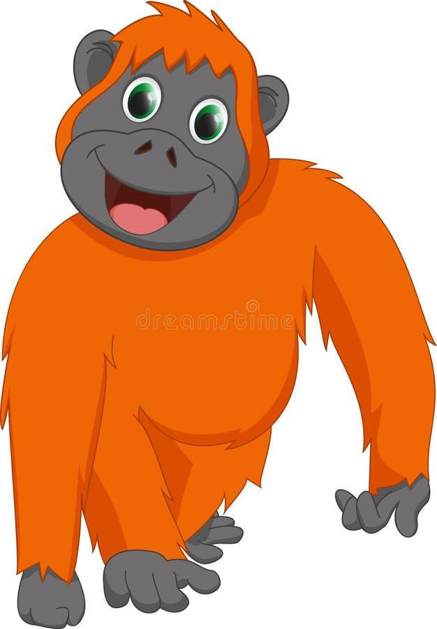 cute orangutan cartoon stock vector image 57407642 Baby Orangutan Clip Art orangutan clipart