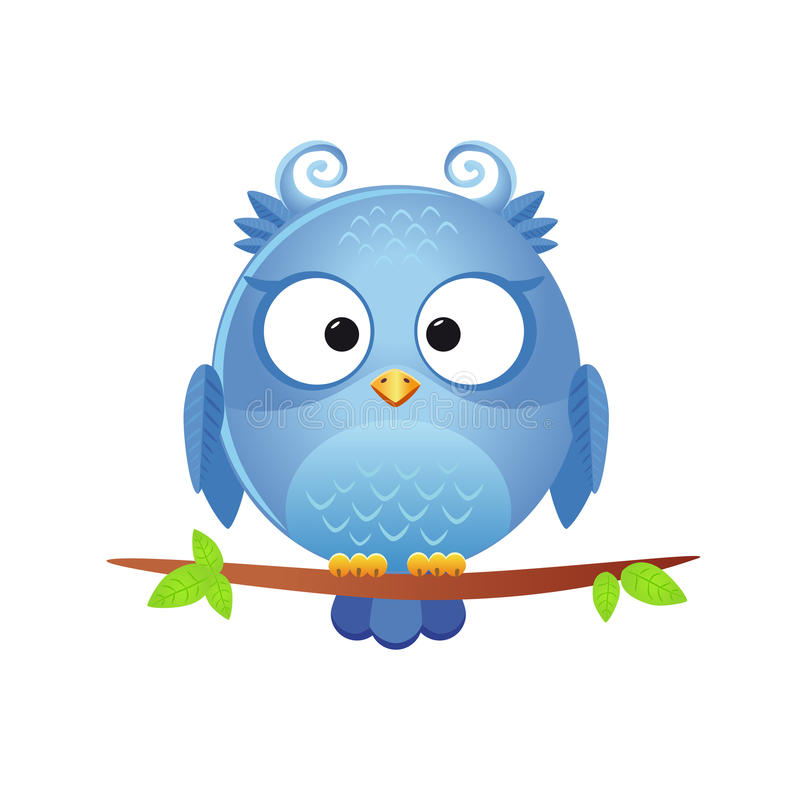 Download Cute owl stock vector. Image of beak, cartoon, bird, cheerful - 27885047