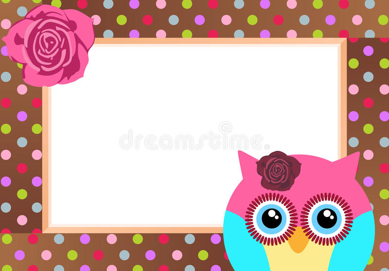 Cute Owl with Bank Label. Scalable vectorial image representing a cute owl with bank label, isolated on white stock illustration