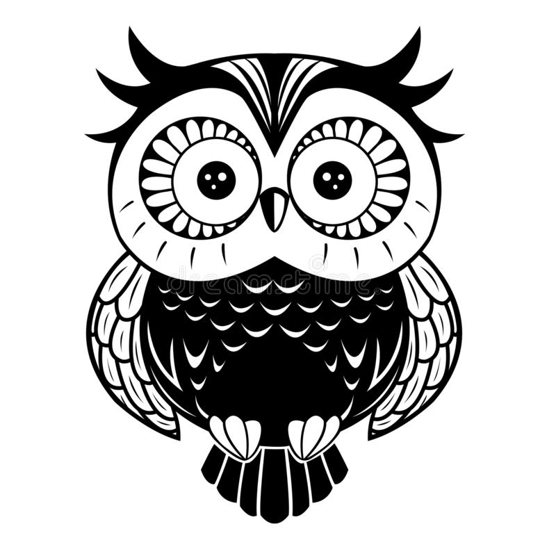 Best 50+ Owl Clip Art Black And White - positive quotes