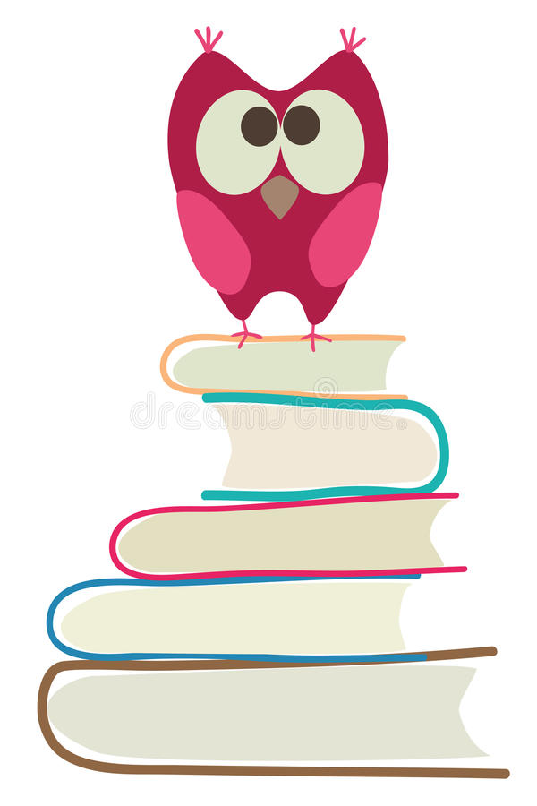 Download Cute owl and books stock vector. Image of drawing, studying - 15652499