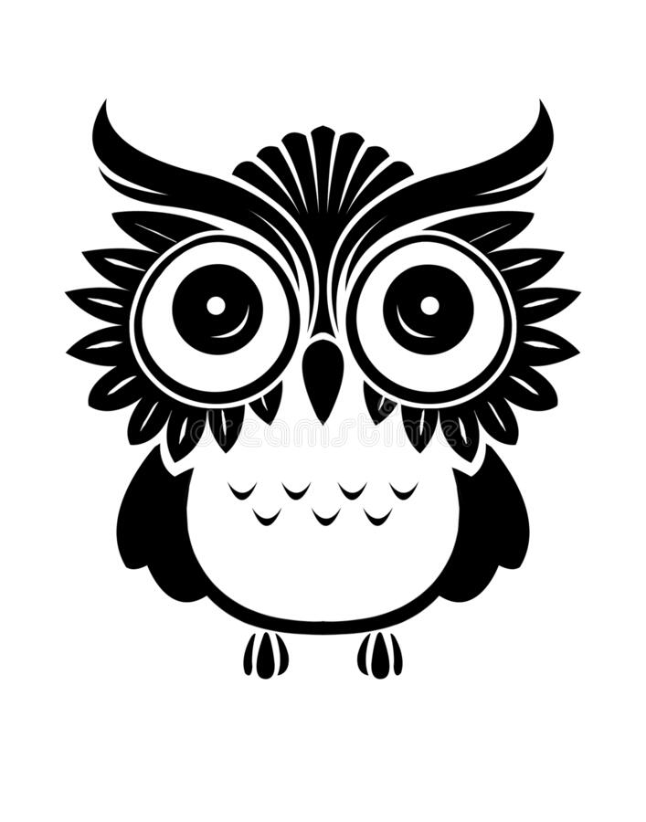 Cute Owl Eps Stock Vector Illustration Of Cute Cliart 185866492