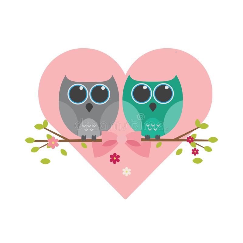 Cute owl stock illustration