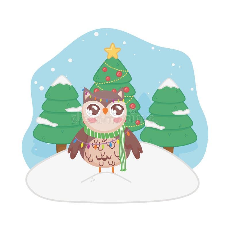 Owl Christmas Lights Stock Illustrations 181 Owl Christmas