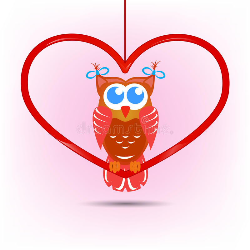 Cute Owl Valentines Day Card Vector Image 36292774 – Owl Valentines Day Cards