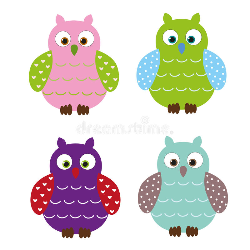 Download Cute owls stock vector. Image of clipart, element, colored - 22446310