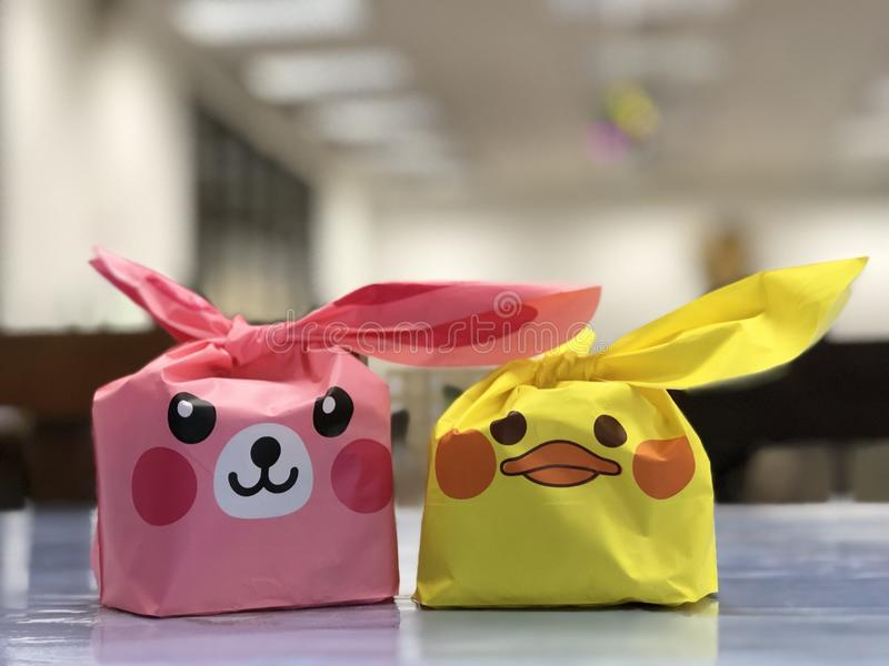 Cute packages royalty free stock images