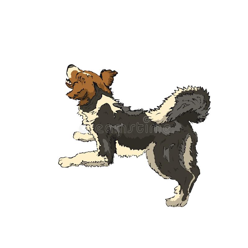 chappy barking stock illustration
