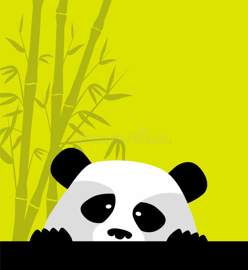 Cute panda stock illustration