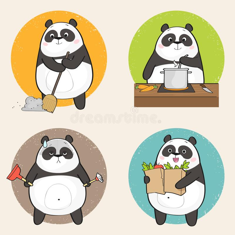 Cartoon Panda vector illustration