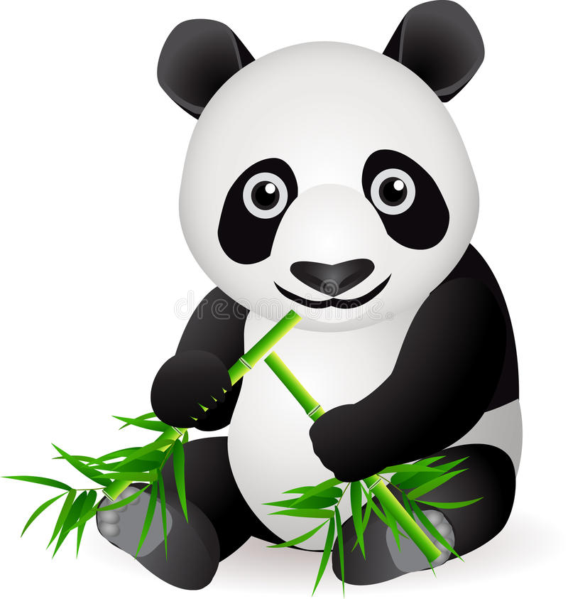 Download Cute panda cartoon stock vector. Image of comic, animal - 14409961