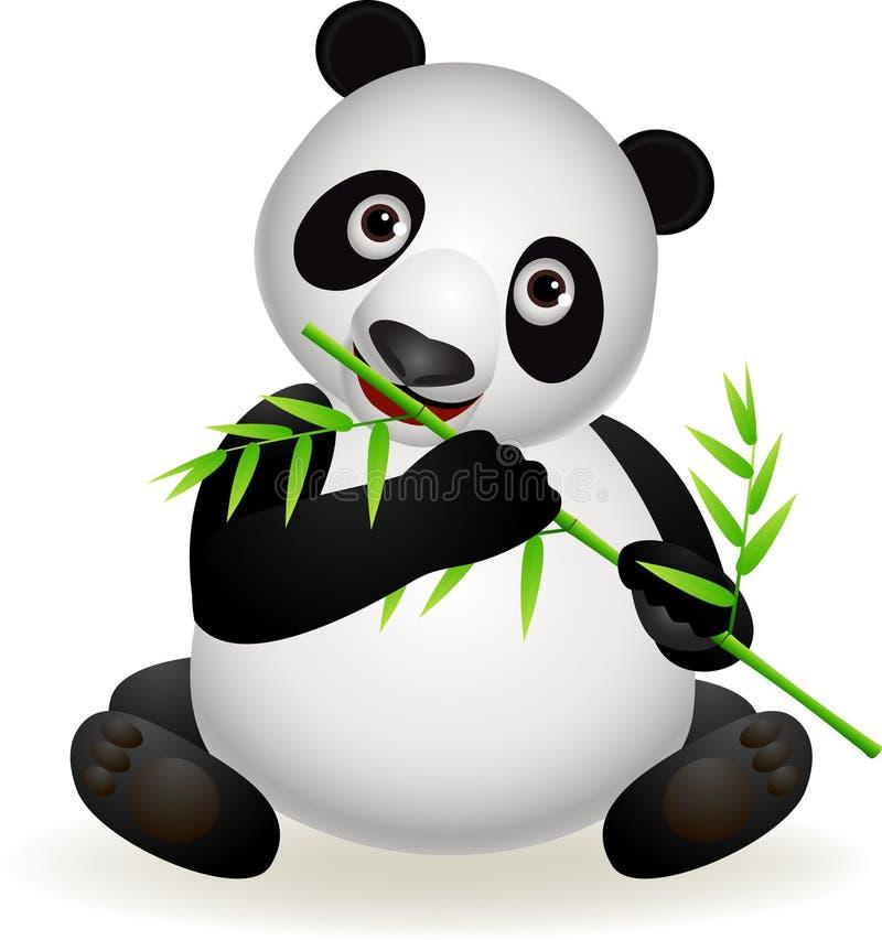 cute panda eating bamboo royalty free stock photography polar bear mascot clipart Bear Logo Clip Art